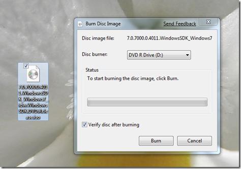 burn disc image
